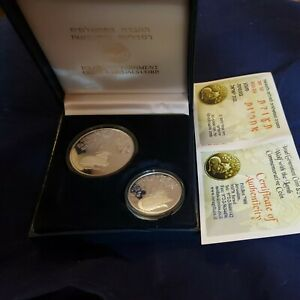 """Israel 2007 Biblical Art """"Wolf and Lamb"""" 925 Silver Proof Set In Box"""