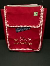 Pottery Barn Kids CHRISTMAS Letters to SANTA North Pole Chairbacker Holiday NEW