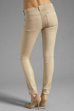 NWT 7 FOR ALL MANKIND Sz25 THE SKINNY SECOND SKIN STRETCH JEANS SAND IRIDESCENT