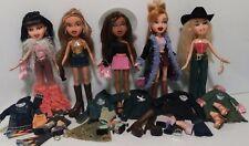 "MGA Bratz 10"" - 5 Funk n Glow dolls & clothes, Sasha, Jade, Meygan,  Lot Bz22"