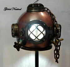 "Antique Diving Helmet Hanging Lamp 18"" US Vintage Deep sea Diving Helmet Lamp"