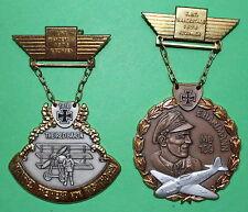 2 Stk.Plaketten Flugzeug, Hartmann und Richthofen