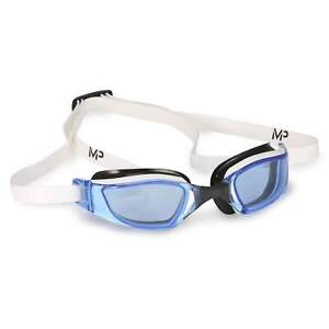 Michael Phelps XCEED Blue Lens Swim Goggles, White/Black