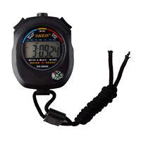 Digitale Multifunktion Stoppuhr Taschenuhr Wecker Stopp Zeitmesser . W0E0