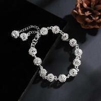 """Bracelet argent """"Silver Globes and Pendants"""" - Envoi de France immédiat"""