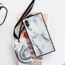 For iPhone X 8 7 6s Plus Shockproof Marble Square Silicone/Gel/Rubber Case Cover