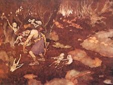 "EDMUND DULAC vintage mounted print, 12 x 10"", Shakespeare The Tempest ED18"