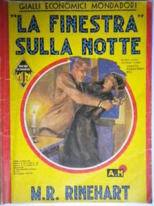 La finestra sulla notterinehart Mondadori 1937gialli 83giallo prima edizione