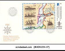 Finland - 1988 World Philatelic Exhibition - Miniature Sheet - Fdc