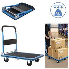 660 Lbs Platform Cart Folding Foldable Dolly Push Hand Truck Moving Warehouse Us