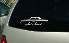 1962 Ford Fairlane Coupe car outline sticker decal wall graphic