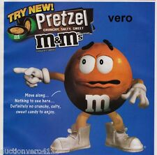 2010 magazine ad M&M's PRETZEL #3 mms M&M orange advertisement print