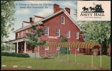 DUNCANNON PA Amity Hall Inn Hotel Restaurant Vintage Postcard Old Town View PC