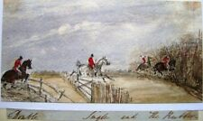 ENGLISH HUNTING FAMILY HUNT OVER THE STICKS W/COL C1840