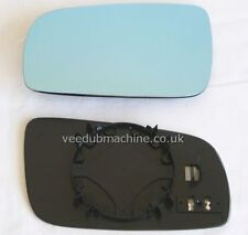 LEFT HAND MIRROR GLASS HEATED BLUE NEW FOR VW GOLF MK4 BORA