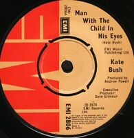 "KATE BUSH man with the child in his eyes/moving EMI 2806 uk emi 1978 7"" WS EX/"