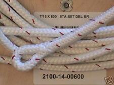"""7/16"""" x 110 ft Staset  Rope Halyard - White Sta-set"""