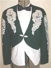 Ladies Green Western Show coat jacket 39+ bust MINT