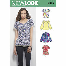 NEW LOOK Sewing Pattern Miss Ladies Plus Blouses and Tops~6395  Sz 8-22