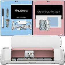 Cricut Maker Smart Die Cutting Machine Bundle with Fabric Sample Tools, Glitter Heat Transfer and Sewing Pack - Champagne