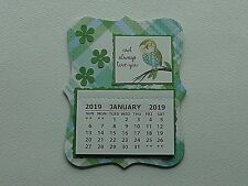 OWL ALWAYS LOVE YOU FLOWERS  2019 MINI MAGNETIC CALENDAR MONTHLY TEAR OFF PAGES