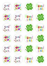 24 Good Luck Cupcake Fairy Cake Toppers Edible Rice Wafer Paper Decorations
