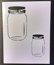 """Mason Jar Jars 8.5"""" x 11"""" Stencil FAST FREE SHIPPING"""