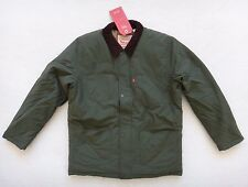 Levis Padded Coat Jacket Mens Size XL Green Padded Insulated Front Zip Snap