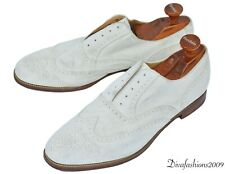 Brooks Brothers Peal & Co White Suede Oxford Mens Shoes Size11.5-D England Made