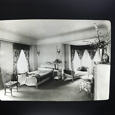 Antique Magic Lantern Glass Slide Photo Bedroom 20-30s Lounge