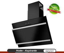 Hotte aspirante MAAN Vertical Bis 400! 60cm, Noir + Satin + Verre Noir! LED-SMD!