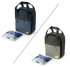 Arctic Zone Upright Antimicrobial Lunch Kit + Ice Pack (Grey or Blue, One Size)
