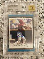 2002 Bowman CHASE UTLEY Phillies RC #/303 '2006 Buyback' BGS 8.5/10 Auto RARE!!!