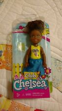 Barbie Mattel Chelsea Club Doll African American Girl with Owl Painted Shirt New