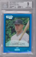 LARS DAVIS 2007 BOWMAN CHROME DRAFT PICKS BLUE REFRACTOR #042/199 BGS 9
