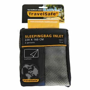Travelsafe Sleeping Bag Inlet Envelope 2 pers Cotton TS0317 Lightweight Thin