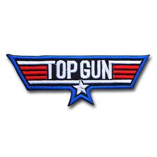 Top Gun US Navy Emblem Military Patch Iron On Topgun Badge Pilot Flight Logo F14