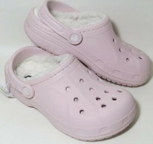 Crocs Ralen Lined Pink Cotton Candy Oatmeal Clogs 16244-952 Womens Size 7 - NEW