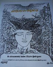 CUBA Silkscreen Poster by Zaida for Movie About Cuban Singer SILVIO RODRIGUEZ