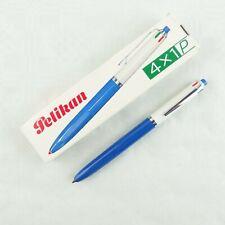 Pelikan 4 X 1 P 4-Farb Kugelschreiber blau weiß mit Schachtel