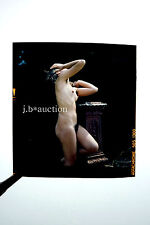 Nudism NUDE WOMAN w HAIRY ARMPITS / NACKT IM PARK FKK * Vintage 60s Dia 6x6cm #1