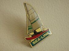 Pin's vintage Collector épinglette pub bateau à voile SEA-LINE Lot D003