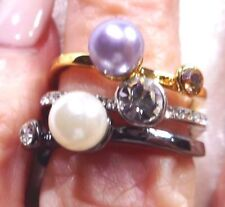 Pearl Silver Plated Handcrafted Rings