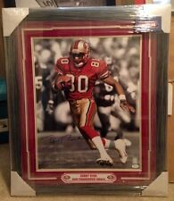 JERRY RICE SIGNED & FRAMED 16x20 JSA PHOTO AUTO AUTOGRAPH NINERS 49ers HOF