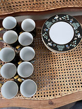 New ListingFitz & Floyd Chinoiserie Cup & Saucer Set '78 Vintage 10 cups 12 saucers