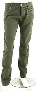 Jeans Uomo Pantaloni ENERGIE B661 Gamba Dritta Kaki/Marrone o Blu Tg 31 33