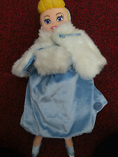 "OFFICIAL DISNEY STORE PLUSH 20"" CINDERELLA PRINCESS WITH CAPE AND HAND WARMER"