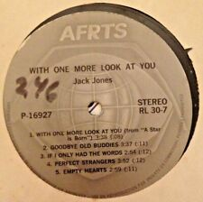 """RADIO SHOW: AFN RL30-7 """"HELEN SCHNEIDER"""" & JACK JONES """"WITH ONE MORE LOOK AT YOU"""