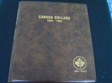 Lot of 51 CANADA 1 Dollars 1936 – 1986 UNI – SAFE Folder Album