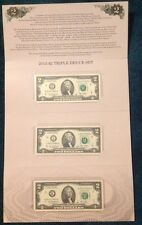 2015 $2 Triple Deuce Currency Set (Sold Out )in BEP